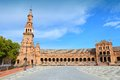 Seville spain famous plaza de espana old landmark Stock Photos
