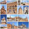 Seville spain photo collage from collage includes major landmarks like the cathedral and plaza de espana Royalty Free Stock Image