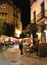 Seville Street at Night Royalty Free Stock Photo