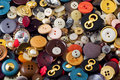 Sew Buttons Royalty Free Stock Images