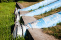 Sewage pipes huge in the city Royalty Free Stock Image