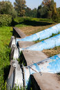 Sewage pipes huge in the city Stock Photo