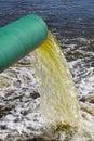 Sewage waste pipe Stock Photo