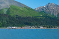 Seward bay mountains in alaska usa Royalty Free Stock Photos
