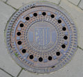 The sewer hatch in dresden germany Stock Images