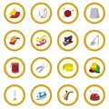 Sewing cartoon icon circle