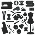 Collection of sewing inventory Royalty Free Stock Photo