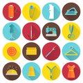 Sewing Equipment Icons Royalty Free Stock Photo
