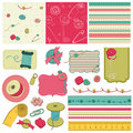 Sewing kit - design elements for scrapbooking Stock Photo