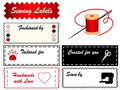 Sewing Labels Royalty Free Stock Photo