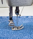 Sewing machine detail Royalty Free Stock Photo