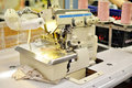 Sewing machine a garment factory Royalty Free Stock Photo