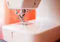 Sewing machine white close up Stock Image