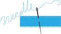 Sewing needle vector illustration of Royalty Free Stock Photo