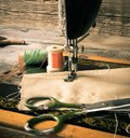 Sewing sewing machine and tools the Royalty Free Stock Image