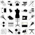Sewing & Tailoring Icons Royalty Free Stock Images