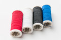 Sewing thread pattern color textile Royalty Free Stock Images