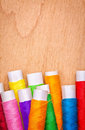 Sewing thread reels Stock Image