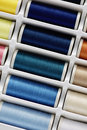 Sewing thread set home objects Royalty Free Stock Images