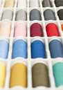 Sewing thread spools Stock Photos