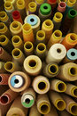 Sewing Thread Spools Royalty Free Stock Photo