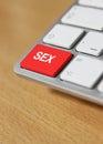 Sex keyboard keys Royalty Free Stock Photo