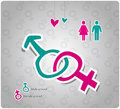 Sex symbol male female Stock Photo