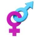 Sex symbol masculino y femenino Imágenes de archivo libres de regalías