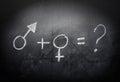 Sex-symbols-concept-and-formula-on-a-blackboard