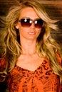 Sexig blondin Royaltyfri Foto