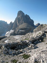 Sextener dolomites: Zwoelferkofel Stock Photo