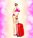 Sexual girl in a bathing suit Royalty Free Stock Photo