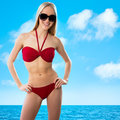 Sexual young blonde girl Royalty Free Stock Photo