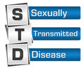 Sexually Transmitted Disease Blue Grey Squares Vertical