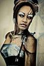 Sexy Adult Fantasy Cybrog Abstract Portrait Royalty Free Stock Photo