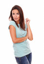 adult woman looking at you Royalty Free Stock Photo