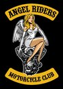 angel and motorcycle engine