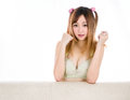 asian woman girl in underwear japanese style Royalty Free Stock Photo