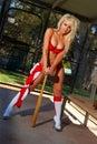 Sexy baseball girl Royalty Free Stock Photos