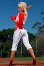 Sexy baseball girl Royalty Free Stock Photography