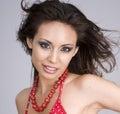Sexy beautiful woman wearing red bikini Royalty Free Stock Images