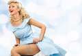 blond pin up woman Royalty Free Stock Photo
