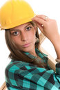 Sexy construction lady Stock Photography