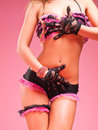 Sexy dancer in pink Royalty Free Stock Image