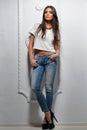 fashion model woman posing Royalty Free Stock Photo