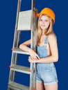 Sexy  female  builder Royalty Free Stock Photography