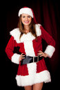 Sexy female Santa Stock Photos