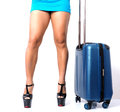 Sexy female traveller Royalty Free Stock Photo