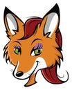 Sexy fox face Royalty Free Stock Photo