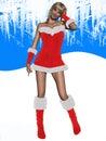 Sexy girl with christmas dress Stock Image